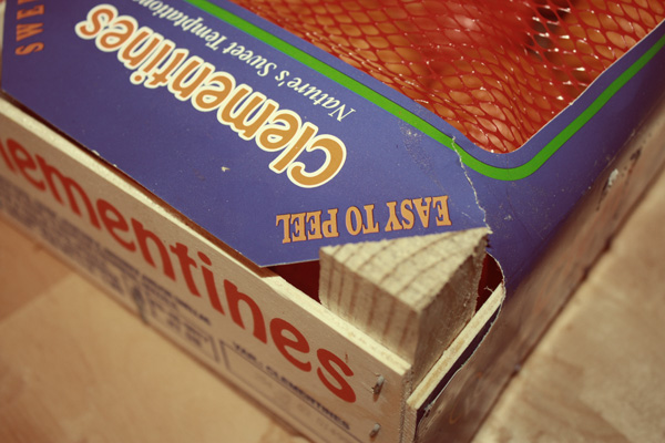 crate of clementines