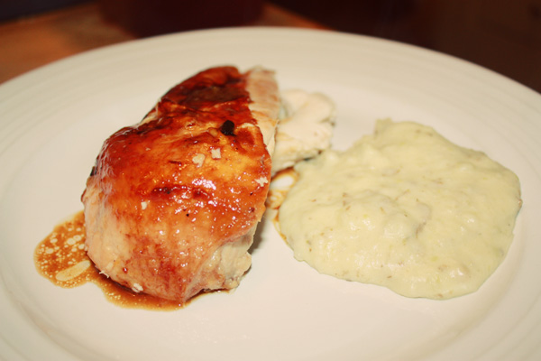 clementine chicken and whipped potatoes