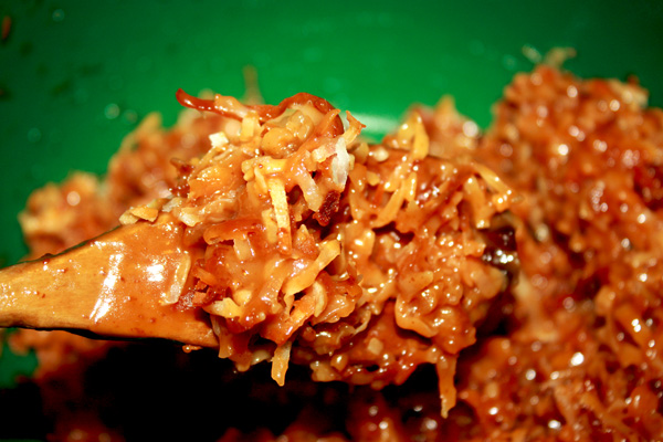Caramel and Coconut Topping
